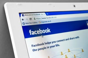 Homepage of Facebook.com